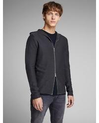schwarzer Pullover mit einem Kapuze von Jack & Jones