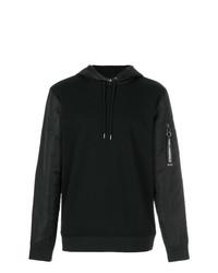 schwarzer Pullover mit einem Kapuze von Karl Lagerfeld