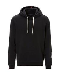 schwarzer Pullover mit einem Kapuze von Marc O'Polo