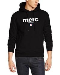 schwarzer Pullover mit einem Kapuze von Merc of London
