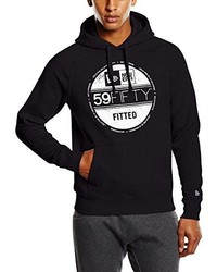 schwarzer Pullover mit einem Kapuze von New Era