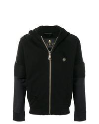 schwarzer Pullover mit einem Kapuze von Philipp Plein