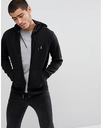 schwarzer Pullover mit einem Kapuze von Polo Ralph Lauren