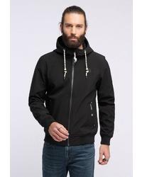 schwarzer Pullover mit einem Kapuze von Schmuddelwedda