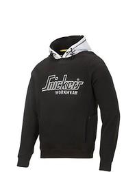 schwarzer Pullover mit einem Kapuze von Snickers Workwear
