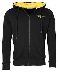 schwarzer Pullover mit einem Kapuze von TOP GUN