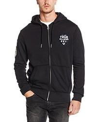 schwarzer Pullover mit einem Kapuze von True Religion