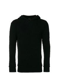 schwarzer Pullover mit einem Kapuze von Z Zegna