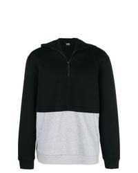 schwarzer Pullover mit einem Reißverschluss am Kragen von Karl Lagerfeld