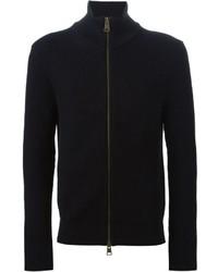 schwarzer Pullover mit einem Reißverschluß von AMI Alexandre Mattiussi