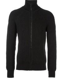 schwarzer Pullover mit einem Reißverschluß von Belstaff