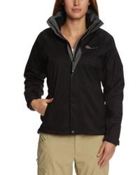 schwarzer Pullover mit einem Reißverschluß von Berghaus