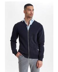 schwarzer Pullover mit einem Reißverschluß von CASUAL FRIDAY