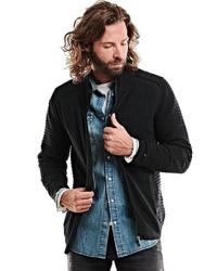 schwarzer Pullover mit einem Reißverschluß von EMILIO ADANI