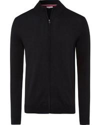 schwarzer Pullover mit einem Reißverschluß von Esprit