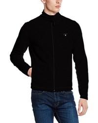 schwarzer Pullover mit einem Reißverschluß von Gant