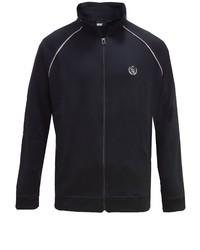 schwarzer Pullover mit einem Reißverschluß von greyes