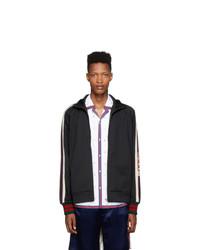 schwarzer Pullover mit einem Reißverschluß von Gucci