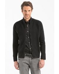 schwarzer Pullover mit einem Reißverschluß von Lufian