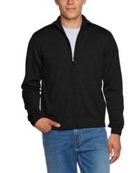 schwarzer Pullover mit einem Reißverschluß von Maerz