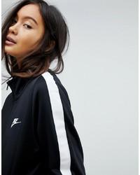 schwarzer Pullover mit einem Reißverschluß von Nike