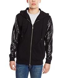 schwarzer Pullover mit einem Reißverschluß von ONLY & SONS