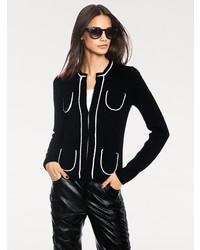schwarzer Pullover mit einem Reißverschluß von RICK CARDONA by Heine