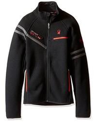 schwarzer Pullover mit einem Reißverschluß von Spyder