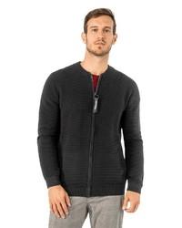 schwarzer Pullover mit einem Reißverschluß von Stitch & Soul