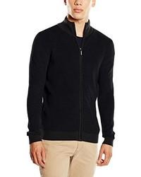 schwarzer Pullover mit einem Reißverschluß von Tom Tailor