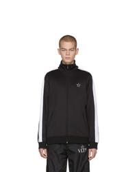schwarzer Pullover mit einem Reißverschluß von Valentino
