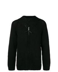 schwarzer Pullover mit einem Reißverschluß von Yohji Yamamoto