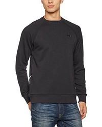 schwarzer Pullover mit einem Rundhalsausschnitt von adidas
