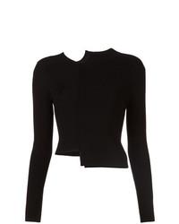 schwarzer Pullover mit einem Rundhalsausschnitt von Alice + Olivia