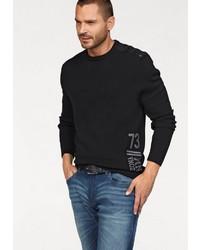 schwarzer Pullover mit einem Rundhalsausschnitt von Arizona
