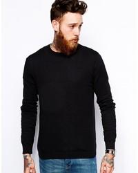 schwarzer Pullover mit einem Rundhalsausschnitt von Asos