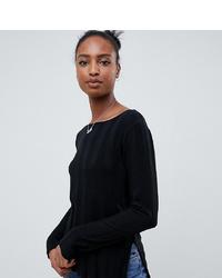 schwarzer Pullover mit einem Rundhalsausschnitt von Asos Tall