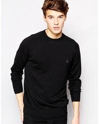 schwarzer Pullover mit einem Rundhalsausschnitt von Bench
