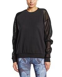 schwarzer Pullover mit einem Rundhalsausschnitt von Björn Borg Footwear