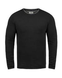 schwarzer Pullover mit einem Rundhalsausschnitt von BLEND