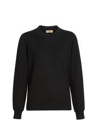 schwarzer Pullover mit einem Rundhalsausschnitt von Burberry