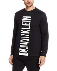 schwarzer Pullover mit einem Rundhalsausschnitt von Calvin Klein Jeans