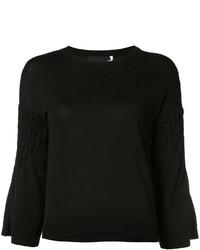 schwarzer Pullover mit einem Rundhalsausschnitt von Co