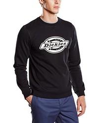 schwarzer Pullover mit einem Rundhalsausschnitt von Dickies