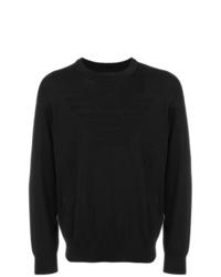 schwarzer Pullover mit einem Rundhalsausschnitt von Emporio Armani