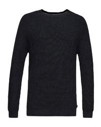 schwarzer Pullover mit einem Rundhalsausschnitt von Esprit