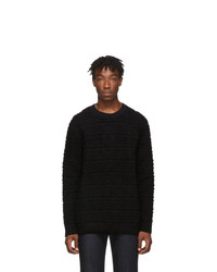 schwarzer Pullover mit einem Rundhalsausschnitt von Fendi