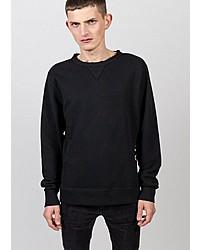 schwarzer Pullover mit einem Rundhalsausschnitt von Freaky Nation