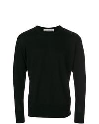 schwarzer Pullover mit einem Rundhalsausschnitt von Golden Goose Deluxe Brand
