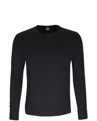 schwarzer Pullover mit einem Rundhalsausschnitt von Jacques Britt